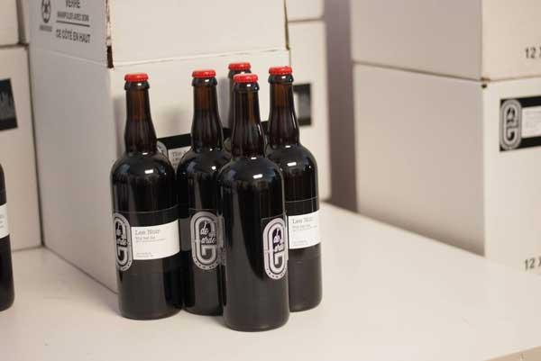 Bottle of de Garde beer on a counter