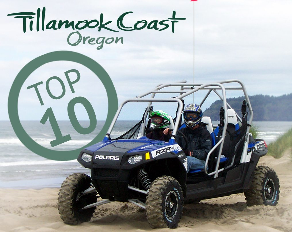 Top 10 on the Tillamook Coast - people driving an ATV