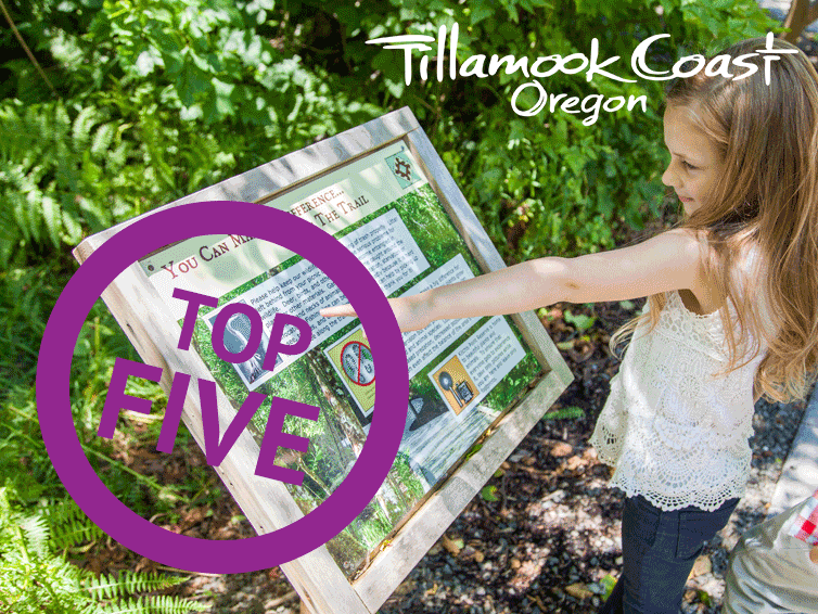 Top 5 Hikes with Kids - little girl pointing at trail sign