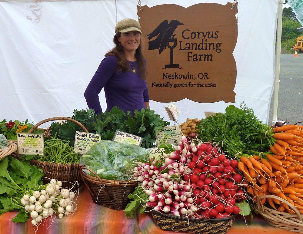 Farmer Carolina Lees of Corvus Landing Farm