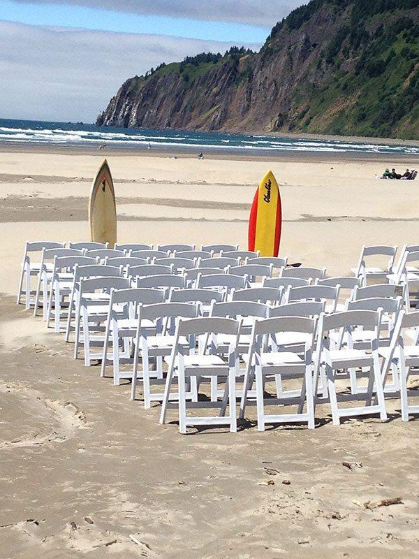 Tillamook Coast beach wedding