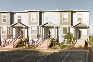 Row homes near the beach