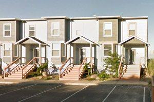 Row homes near the beach