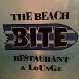 The Beach Bite Restaurant and Lounge sign