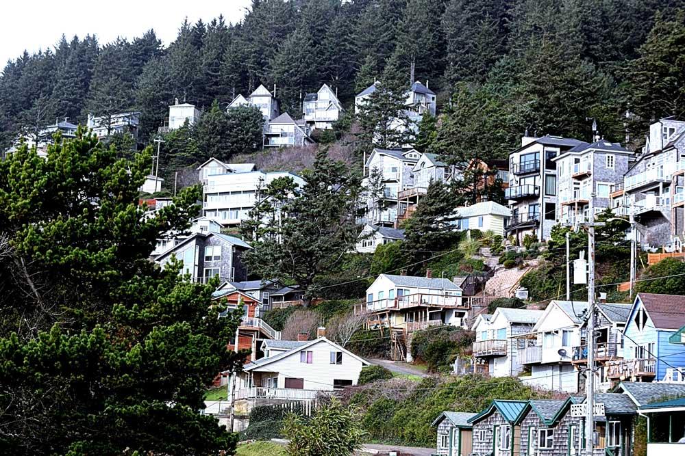 Oceanside Oregon hillside