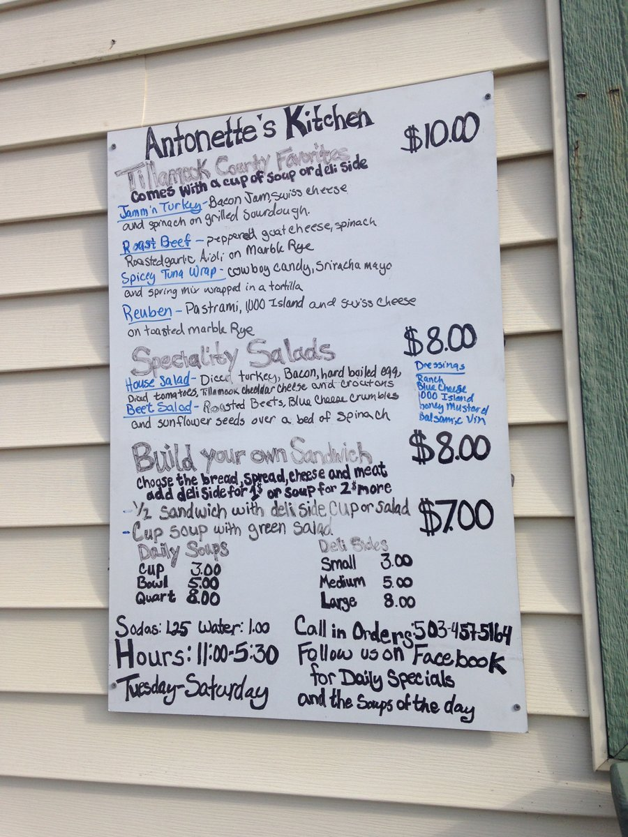 Antonette's Kitchen menu