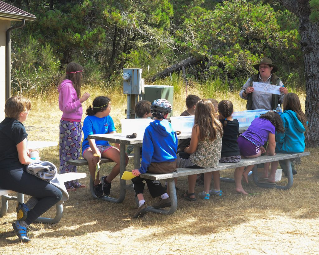 Nehalem Bay State Park brings in extra hosts during the busy summer months to help with things like the Junior Ranger Program submitted photo